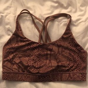 Lulu Lemon Pink Snakeskin Sports Bra